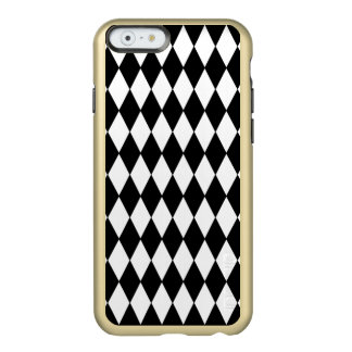 Black White Harlequin Pattern Incipio Feather® Shine iPhone 6 Case