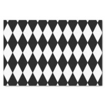 Black White Harlequin Pattern Tissue Paper