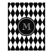Black White Harlequin Pattern, Your Initial Flyer