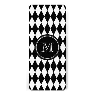 Black White Harlequin Pattern, Your Initial Invitation