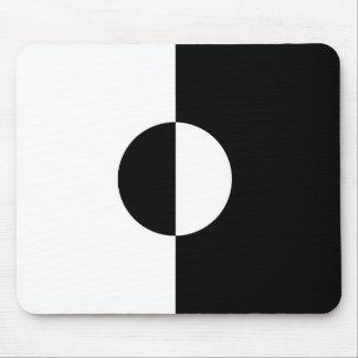 Black & White Harmony Mouse Pad