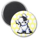 Black & White Havanese Fridge Magnet