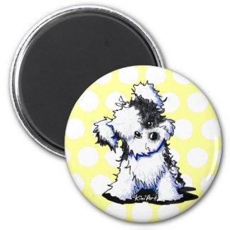 Black & White Havanese 2 Inch Round Magnet
