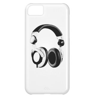 Black & White Headphone Artwork iPhone 5C Case