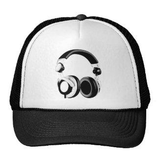 Black & White Headphone Artwork Trucker Hat