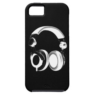 Black & White Headphone Silhouette iPhone 5 Cover