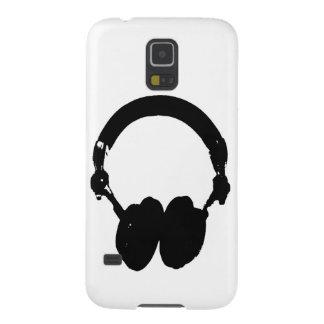 Black & White Headphone Silhouette Galaxy S5 Case