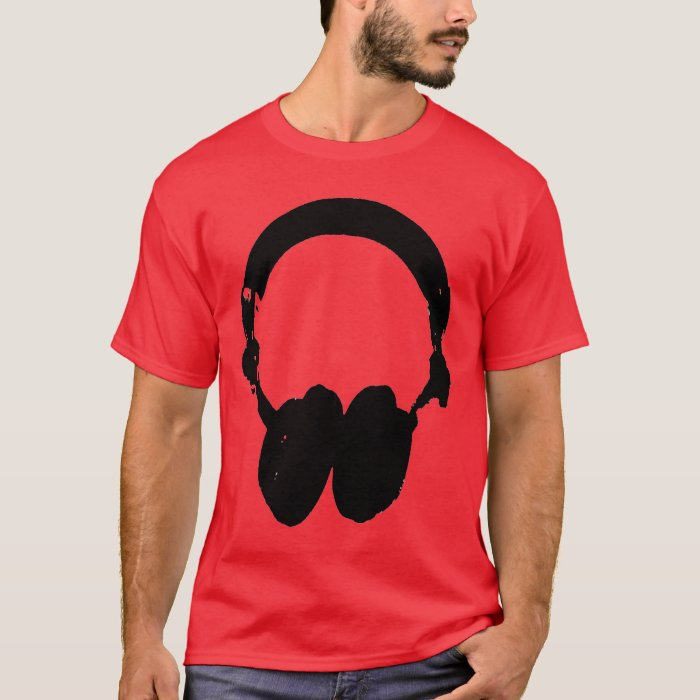 Black & White Headphone Silhouette T-Shirt
