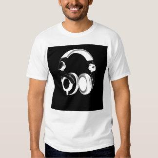 Black & White Headphone Silhouette T-shirts