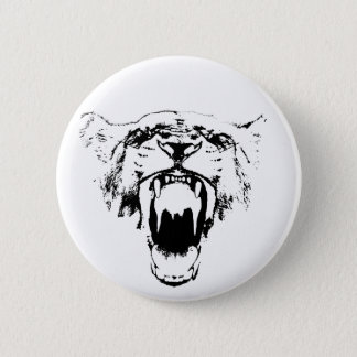 Black & White Hear My Roar! - Button