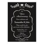 Black & White Heart &Vine Anniversary Invitation