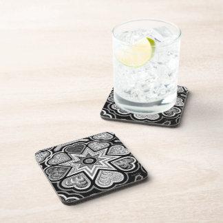 Black & White Hearts Coasters