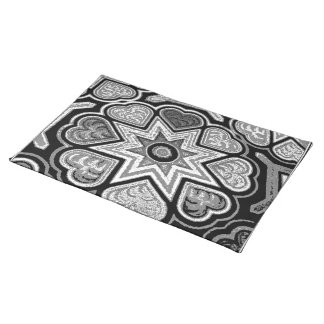 Black & White Hearts Placemat