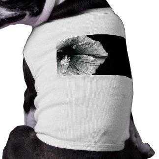 Black & White Hibiscus Flower Photography T-Shirt