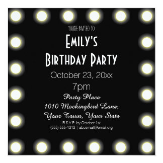 hollywood theme invitations  announcements  zazzle, party invitations