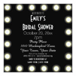 Black & White Hollywood Theme Bridal Shower 5.25x5.25 Square Paper Invitation Card
