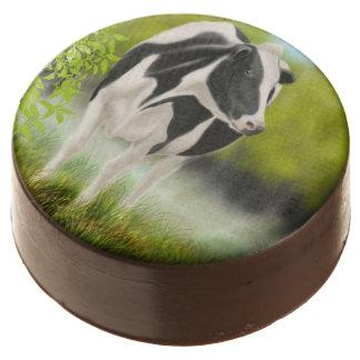 Black White Holstein Cow Dipped Oreo Cookies