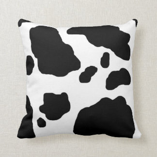 Black / White Holstein Cow Print Throw Cushion