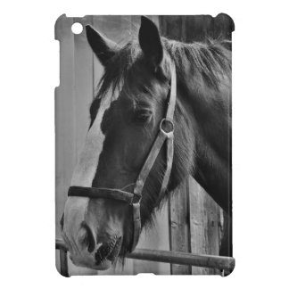 Black White Horse - Animal Photography Art iPad Mini Case