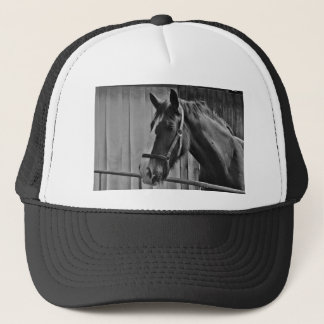 Black White Horse - Animal Photography Art Trucker Hat