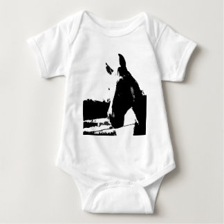 Black & White Horse Baby Bodysuit