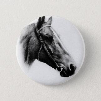Black & White Horse Button