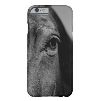 Black White Horse Eye Artwork Barely There iPhone 6 Case