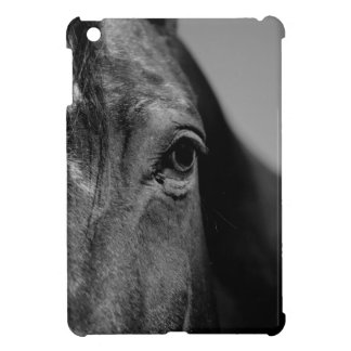 Black White Horse Eye Artwork iPad Mini Cases