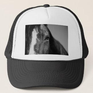 Black White Horse Eye Artwork Trucker Hat