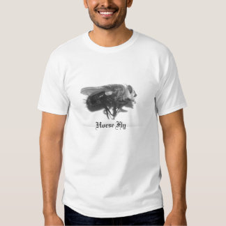 Black&White Horse Fly-facing right-by KLM T-shirt