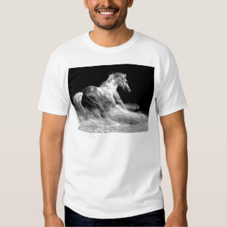 Black & White Horse in Action Shirt