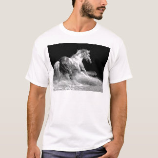 Black & White Horse in Action T-Shirt