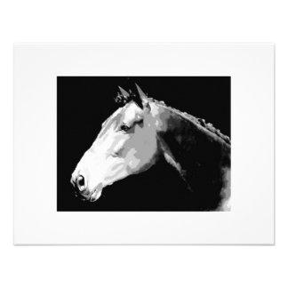 Black White Horse Personalized Invitations