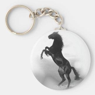 Black White Horse Keychain