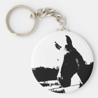Black & White Horse Keychain
