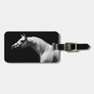 Black & White Horse Luggage Tag