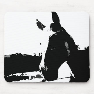 Black & White Horse Mouse Pad