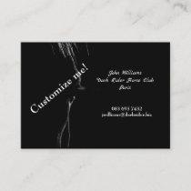Black & White Horse Silhouette Business Card
