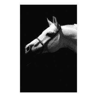 Black & White Horse Stationery