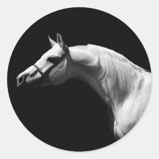 Black & White Horse Sticker