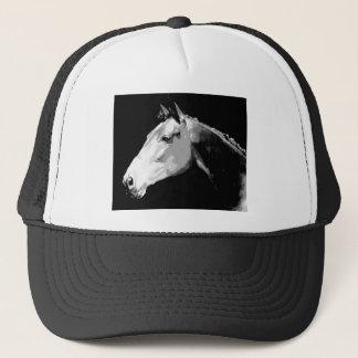 Black & White Horse Trucker Hat