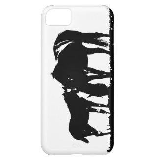 Black & White Horses Silhouette Case For iPhone 5C