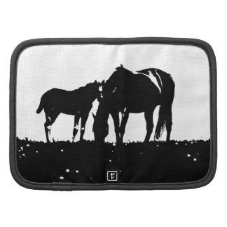Black & White Horses Silhouette Organizer