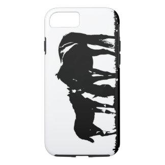 Black White Horses Silhouette Tough iPhone 7 Case