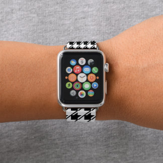 Black White Houndstooth Apple Watch Band