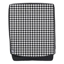 Black/White Houndstooth Backpack