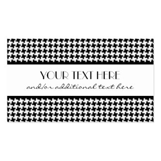 Black & White Houndstooth Business Cards