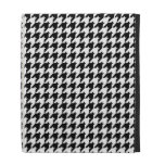 Black & White Houndstooth Check Pattern iPad Folio Covers