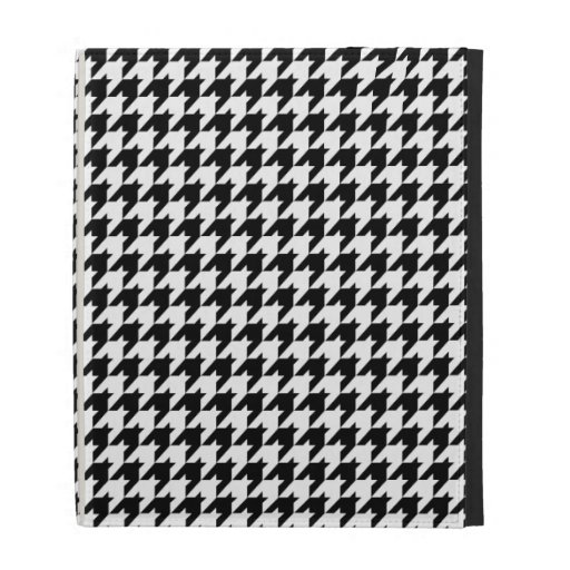 Black & White Houndstooth Check Pattern iPad Case