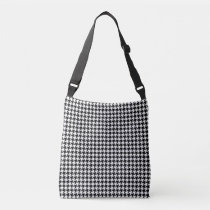 Black/White Houndstooth Crossbody Bag